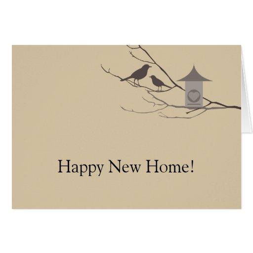 Nueva tarjeta de felicitación casera de los pájaro