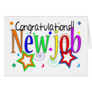 Nueva tarjeta de felicitación del trabajo de la en