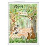 Nueva tarjeta de la buena suerte de la escuela