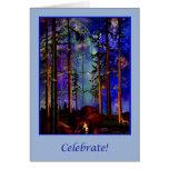 Nueva tarjeta de la celebración de la creación (w/
