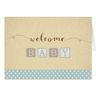 Nueva tarjeta de la enhorabuena del bebé