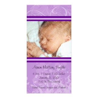Nueva tarjeta de la foto del bebé del estilo tarjeta personal con foto