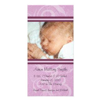 Nueva tarjeta de la foto del bebé del nuevo estilo tarjeta fotográfica personalizada