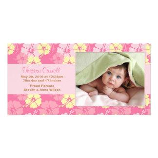 Nueva tarjeta de la invitación de la foto del bebé tarjetas con fotos personalizadas