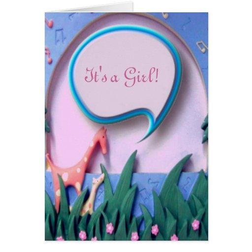 Nueva tarjeta de la invitación de la niña