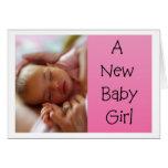 Nueva tarjeta de la niña