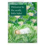 Nueva tarjeta de la recepción del bebé