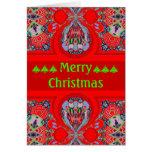 Nueva tarjeta de Navidad 2012 roja hermosa persona