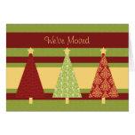 Nueva tarjeta de Navidad de la dirección de los ár