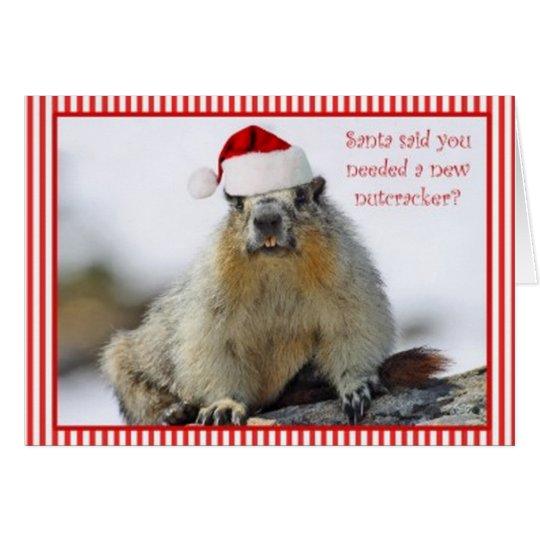 Nueva tarjeta de Navidad del cascanueces