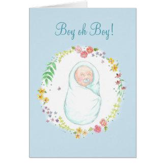 Nueva tarjeta de nota del bebé