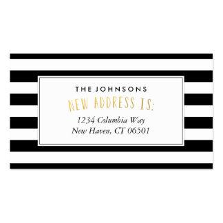 Nueva tarjeta de visita de la dirección de