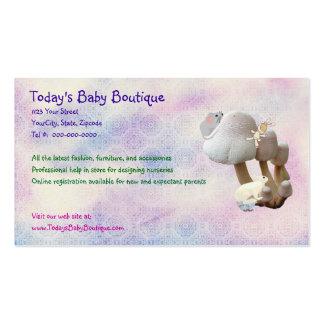Nueva tarjeta de visita de los productos del bebé