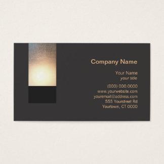 Nueva tarjeta de visita del resplandor del zen de