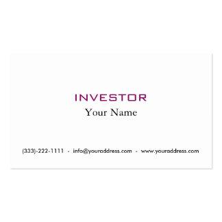 Nueva tarjeta del inversor del dinero de la idea tarjetas de visita
