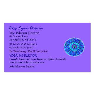 Nueva tarjeta del perfil de la yoga de la edad tarjetas de visita
