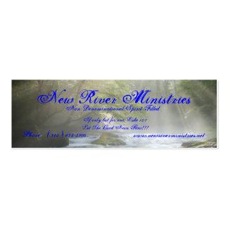 Nueva tarjeta del perfil de los ministerios del tarjetas de visita mini