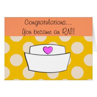Nueva tarjeta II de la enhorabuena de la enfermera
