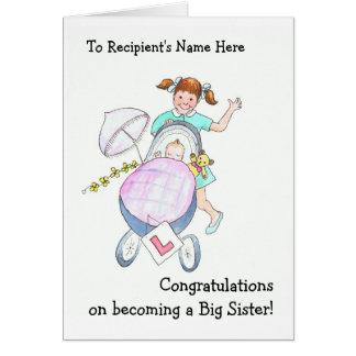 Nueva tarjeta linda de la enhorabuena del bebé