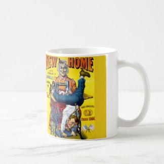 Nueva taza casera del anuncio de la máquina de