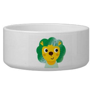 Nueva taza del mascota con poco ejemplo del león comedero para mascota