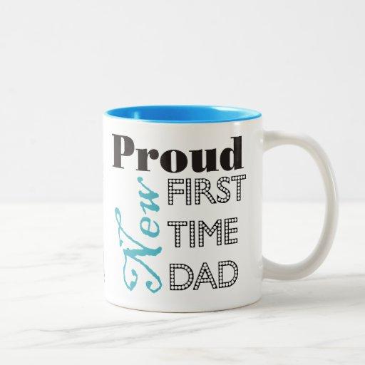 Nueva taza orgullosa de la foto del papá de la pri