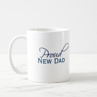 Nueva taza orgullosa del azul del papá