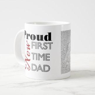 Nueva taza orgullosa del jumbo de la foto del papá tazas jumbo