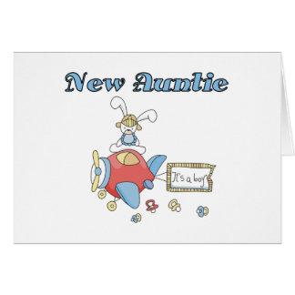 Nueva tía del bebé tarjeta de felicitación