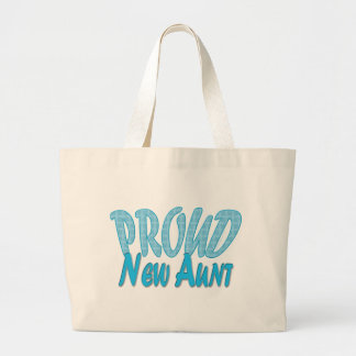 Nueva tía orgullosa Blue Bolsa Tela Grande