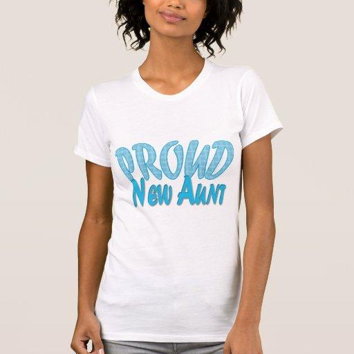 Nueva tía orgullosa Blue Camisetas