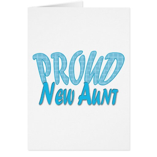Nueva tía orgullosa Blue Tarjetas