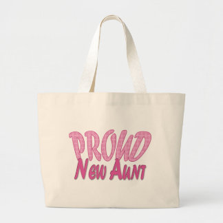 Nueva tía orgullosa Pink Bolsa Tela Grande