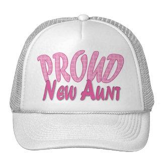 Nueva tía orgullosa Pink Gorros