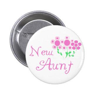 Nueva tía Pink Flowers Tshirts y regalos Pins