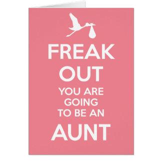 Nueva tía Pregnancy Announcement Felicitación
