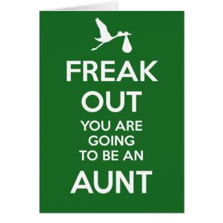 Nueva tía Pregnancy Announcement Tarjeta De Felicitación