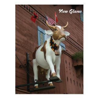 Nueva vaca de Glarus Tarjeta Postal