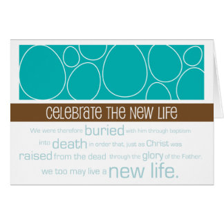 Nueva vida de pascua del ~ cristiano de la tarjeta