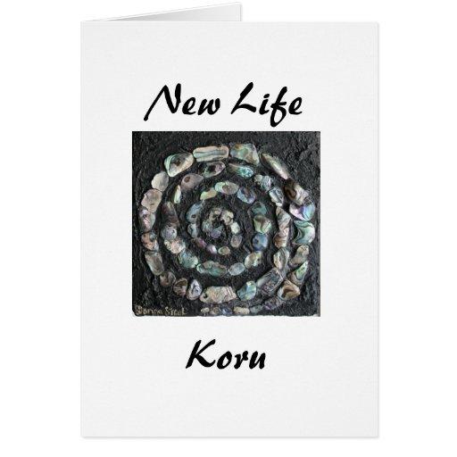 Nueva vida, Koru Tarjeta De Felicitación