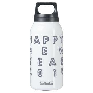 Nueva víspera feliz 2015 de los year´s botella isotérmica de agua