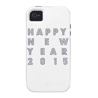 Nueva víspera feliz 2015 de los year´s Case-Mate iPhone 4 fundas