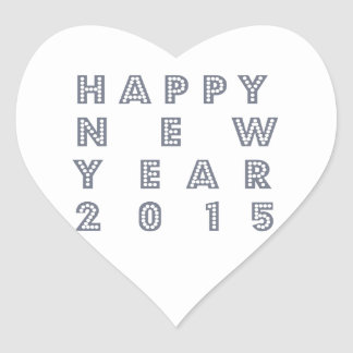 Nueva víspera feliz 2015 de los year´s pegatina en forma de corazón