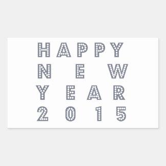 Nueva víspera feliz 2015 de los year´s pegatina rectangular