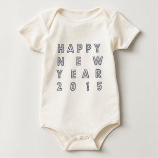 Nueva víspera feliz 2015 de los year´s traje de bebé