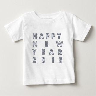 Nueva víspera feliz 2015 de los year´s playera de bebé