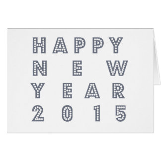 Nueva víspera feliz 2015 de los year´s tarjeta de felicitación
