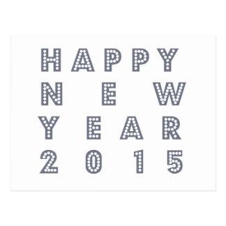 Nueva víspera feliz 2015 de los year´s postal
