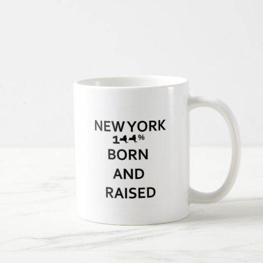 Nueva York 100% llevada y aumentada Taza Básica Blanca