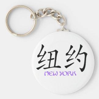 Nueva York 2 Llavero Redondo Tipo Pin